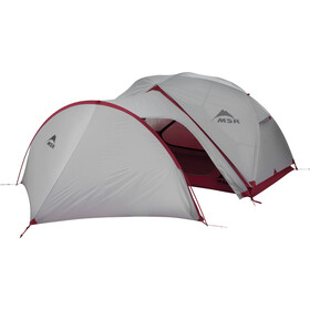 MSR Gear Shed V2 Tent, gray/red